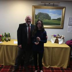 Captains' Presentation Night Eclectic winner
