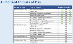 [2] Authorised formats of play
